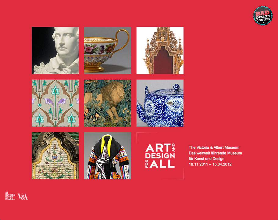 V&A – Art an Design for All / Landingpage.