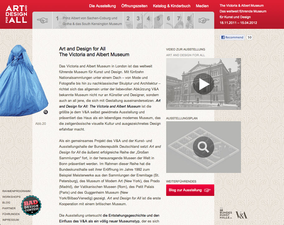 V&A – Art an Design for All / Microsite.